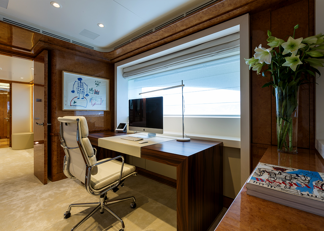 2014 Comprehensive re-fit of this 60m Benetti including new AV/IT systems and integrated control of new LED lighting. 2017 Main salon cinema upgrade and Omniyon movie & music server integration